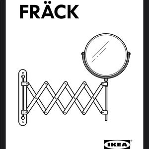 IKEA Stainless Steel Wall Mount Frack Mirror